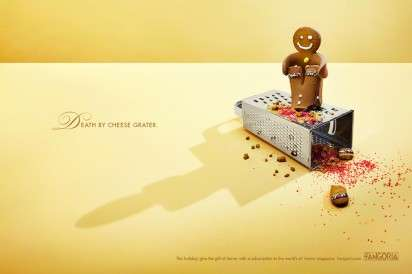 Macabre Gingerbread Men Ads - The Fangoria Magazine Holiday 2013 Campaign is Deliciously Disturbing