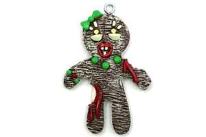 The Zombie Gingerbread Adornments are Thrisy for Candy Blood