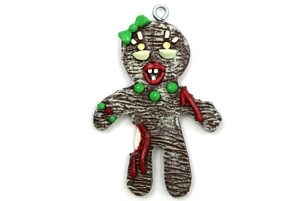 Zombie Gingerbread Ornaments
