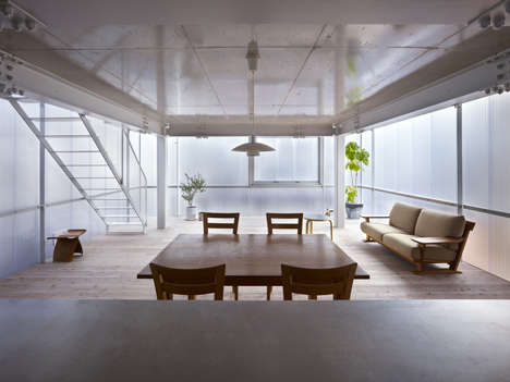 Translucently Porous Homes - The House of Tousuien is Completely Made of Translucent Polycarbonate