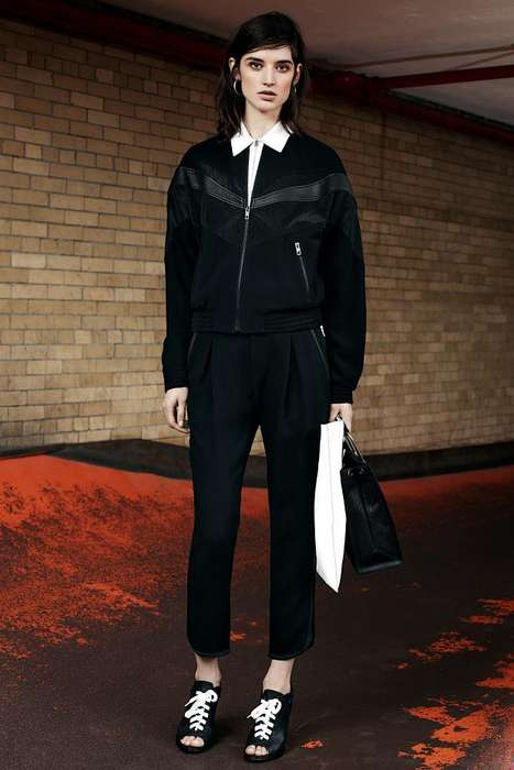 British Streetwear-Inspired Fashion - The Rag & Bone Pre-Fall 2014 Collection is Monochromatic