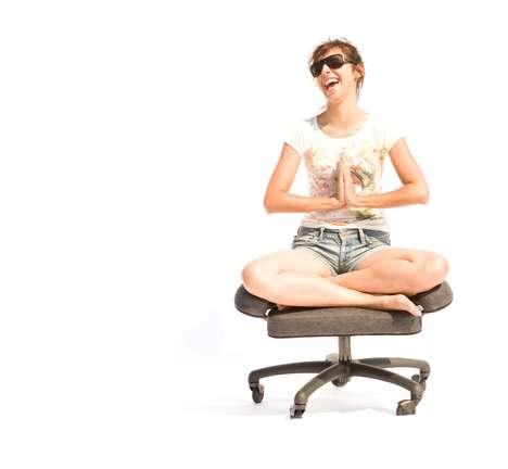 Yoga-Inspired Office Chairs - The Sukhasana Yoga Chair Helps You Comfortably Sit Cross-Legged