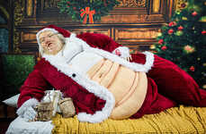 Grotesquely Obese Santa Displays - This Obese Santa Sculpture is in Window Displays in San Francisco