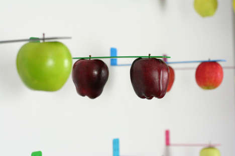 Apple-Picking Produce Shelves -