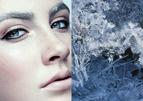 Frosted Beauty Portraits - The Ice Age Editorial by Ruo Bing Li Embraces Winter Cosmetics