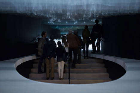 Celestial Light Installations - The Infuse Installation Literally Swallows You in a Sea of Mist