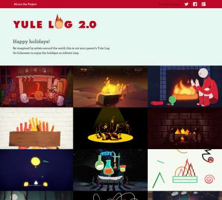 Artistic Virtual Fireplace Sites - Yule Log 2.0 Has Fireplace Video Loops Created by Artists