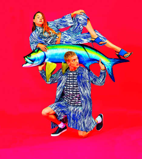 Over-Saturated Print Advertorials - The Kenzo Spring/Summer 2014 Campaign Preview is Electric