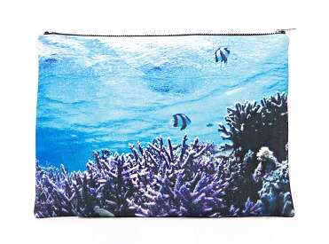 digital print clutch