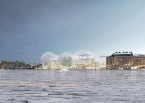 Translucent Spheric Structures - The Nobel Headquarters by SANAA is a Message of Global Unity