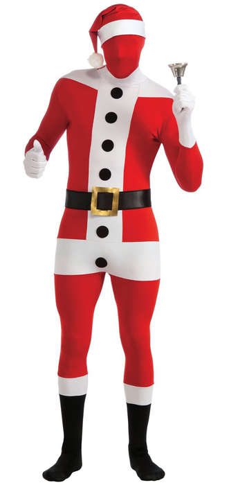 Skin-Tight Santa Costumes - Delight Friends and Scare Kids with the Second Skin Santa Suit
