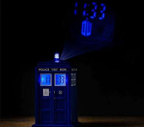 Time Machine Alarm Clocks - This TARDIS Alarm Clock Gives Sleepers the Ultimate Wake-Up Call