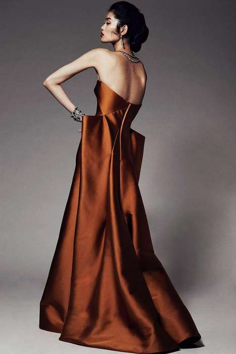 Glamorous Sculptural Gowns - The Zac Posen Pre-Fall 2014 Collection Has an Old Hollywood Charm