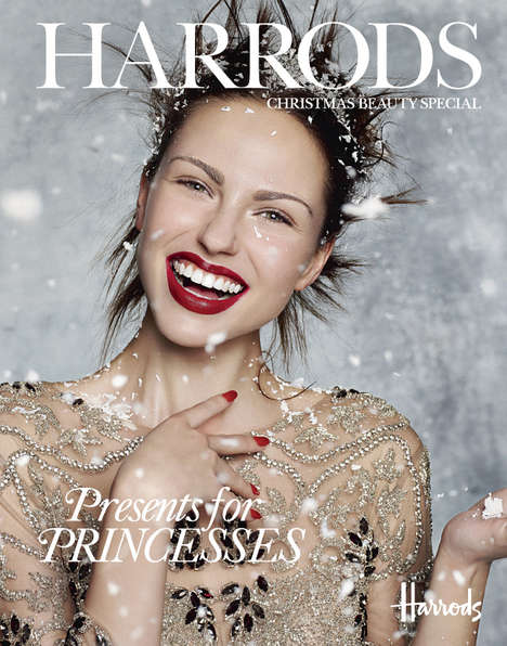 Winter Opulence Captures - The Snow Queen Beauty Story by Rui Faria is Featured in Harrods Magazine