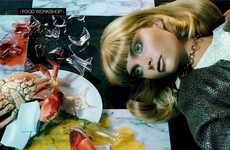 Food Coma Fashion Editorials - Agnete Hegelund stars in Vogue Italia