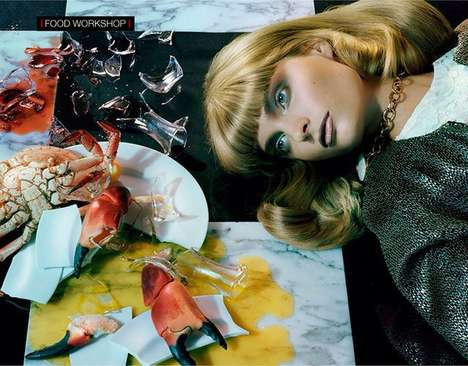 Food Coma Fashion Editorials - Agnete Hegelund stars in Vogue Italia December 2013