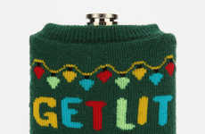 Sweater-Wearing Holiday Flasks - The Urban Outfitters 'Get Lit' Flask is Sporting an Ugly Sweater