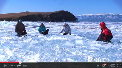 Frozen Lake Musical Instruments - Lake Baikal Has Become an Instrument for Siberian Ice Drummers