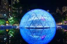 LED Dome Architecture - Rising Moon by Daydreamers Design Lights Up Hong Kong's Urban Landscape