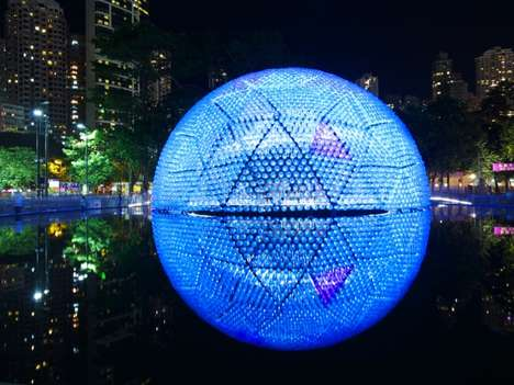 LED Dome Architecture - Rising Moon by Daydreamers Design Lights Up Hong Kong