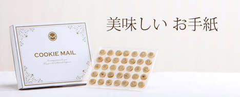 Customizable Cookie Messages - Japan's Cookie Mail is a Delicious Way to Send Cookie Gifts
