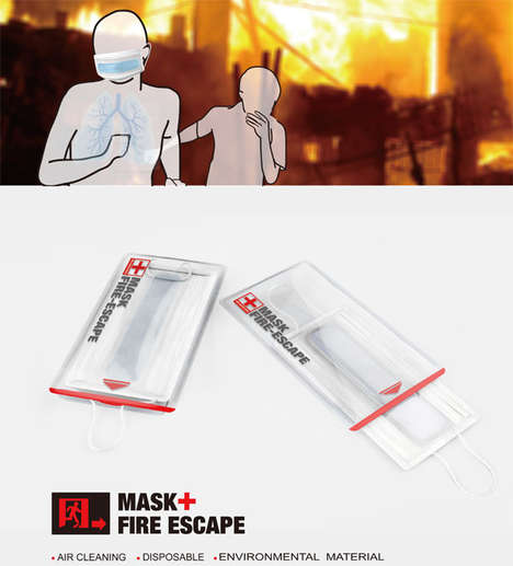 Life-Saving Fire Masks - This Piece of Fire Safety Equipment Prevents the Inhalation of Smoke