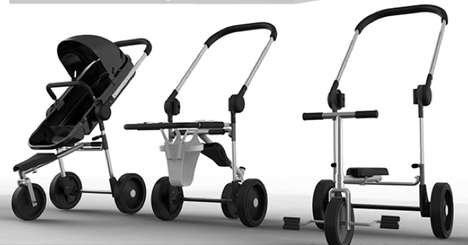 Evolving Infant Transporters - The Piv-O Stroller Grows and Changes with Your Child