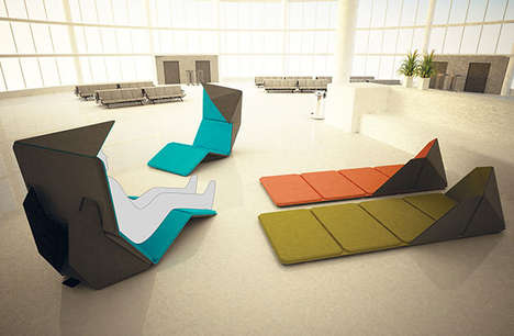 Travel Layover Loungers - The RESMO System Facilitates Cheap and Easy Airport Camping