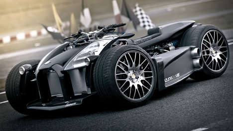 Caliper-Integrated Race Cars - This Custom Race Car Will Give You the Ride of Your Life