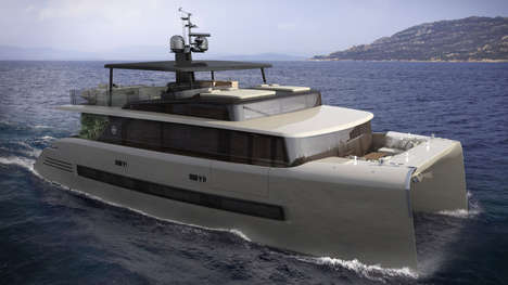 Relaxing Yacht Concepts - Christian Grande's Luxury Boat Concept Stresses Relaxation on the Seas