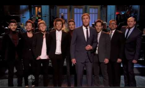 Boy Band Comedic Collaborations - The One Direction and Paul Rudd SNL Monologue was Delightful