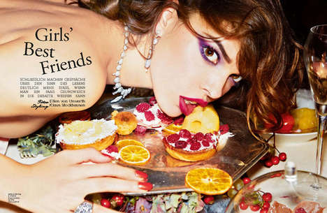 Indulgent Accessory Editorials - The Girls