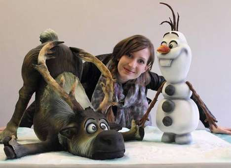 Wintry Cartoon-Inspired Desserts - The