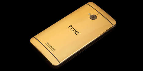 Brilliantly Authentic Golden Smartphones - The New HTC One is Made of 24-Karat Gold