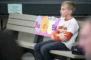 An 8 Year-Old Boy Creates Buddy Bench for Lonely Classmates