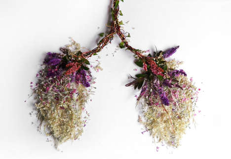 Organ-Shaped Flower Arrangements - Camilla Carlow