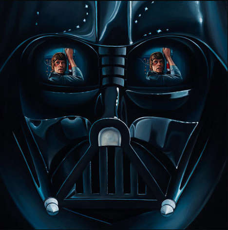 Mirrored Sci-Fi Prints - These Star Wars Art Pieces Immortalize the Saga