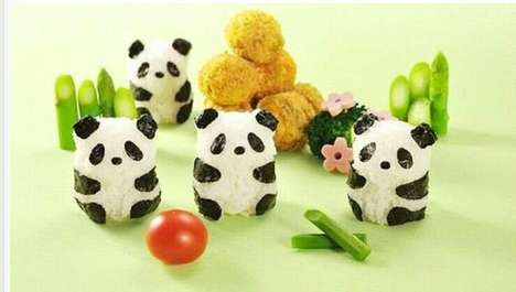 Panda-Inspired Bento Accessories - These Panda Rice Molds Will Melt Their Way into Your Belly