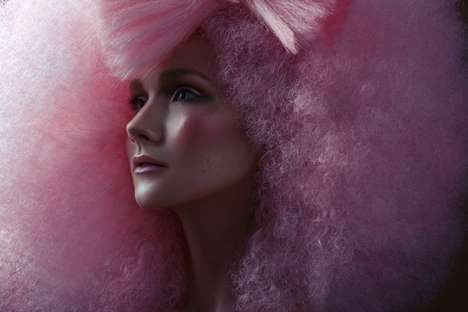 Cotton Candy Afros - The Photo Series Starring Anastasia T by Jeff Tse is Quirky and Colorful