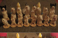 A Taxidermist Created an Entire Chess Set Made Up of Dead Mice