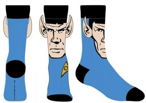 Pointy-Eared Galactic Socks - These Star Trek Socks are Bold and Perfect for Fans of the Franchise