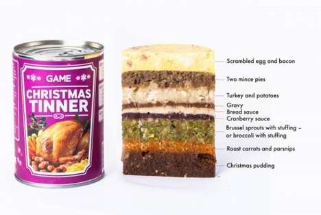 Canned Festive Feasts - The GAME Christmas Tinner Boasts Nine Deliciously Compact Layers