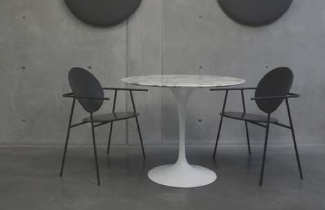 Double Dot Seating - The Two Circles Chair Embodies Minimalist Geometries for a Contemporary Look