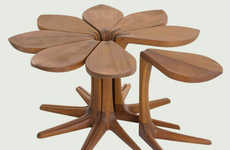 Flowering Side Tables - This Flower Shaped Side Table was Created by a Company Called Vogel