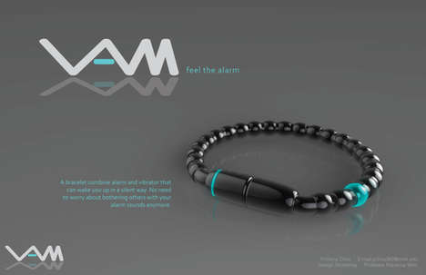 Slumber-Rousing Accessories - The VAM Alarm Bracelet Vibrates to Wake Only the One Who Wears it