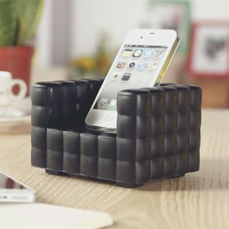 Luxury Phone Furniture Docks - This iPhone Dock From Siri's Couch Lets Your Phone Relax