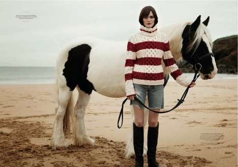 Seaside Bombshell Shoots - This Twin Magazine Editorial Features Model Sam Rollinson