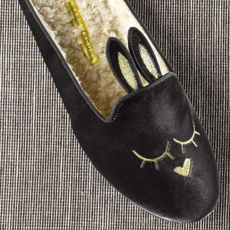 Sweetly Slumbering Bunny Slippers - These Couture Bunny Slippers Will Help You Rest in Style