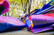 Massive Multi-Coloured Sculptures