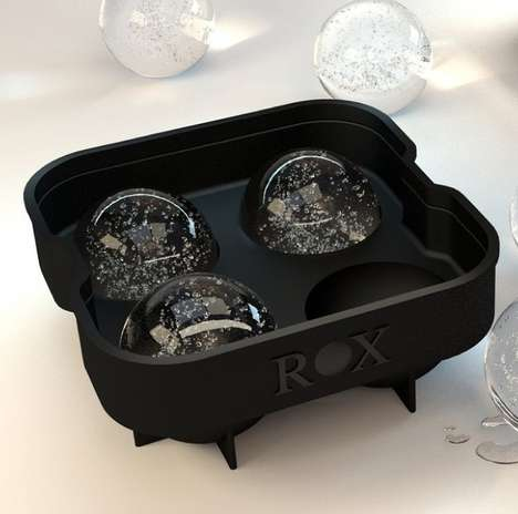 Futuristic Spherical Ice Molds - The Rox Ice Ball Maker Molds 2 Inch Spheres